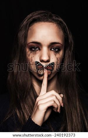 WOMAN VIOLENCE - stock photo