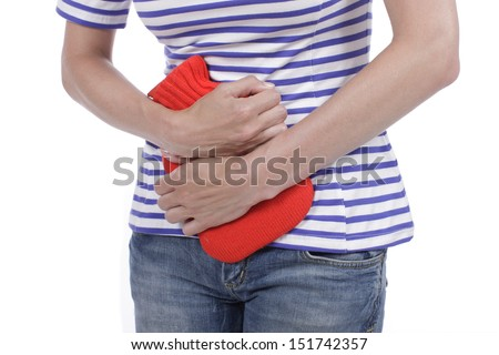 Woman with bladder inflammation - stock photo