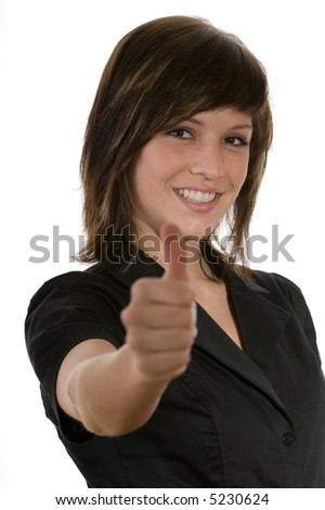 woman with gesture - stock photo