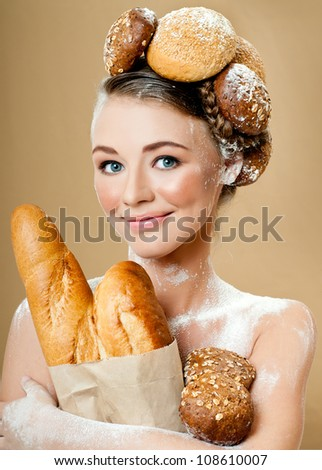 woman with luxury makeup - stock photo