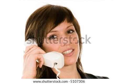 woman with phone - stock photo
