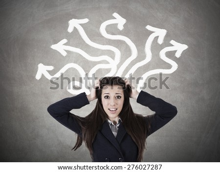 woman with problems - stock photo