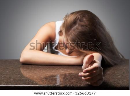 Women abuse. - stock photo