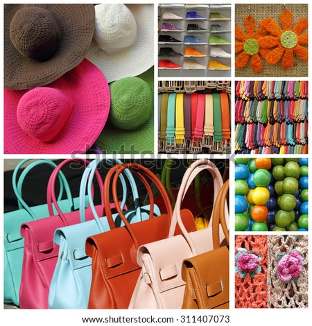 women accesories collage  - stock photo