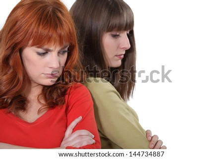 Women angry with each other - stock photo