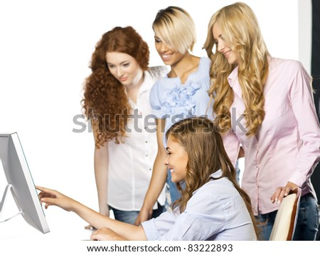 Women at office - stock photo