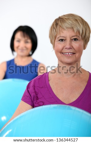 Women at the gym - stock photo