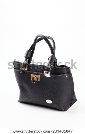 women bag by leather  - stock photo