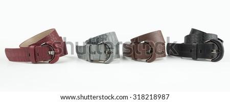 women belt isolated on white - stock photo