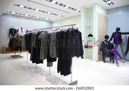 Women clothing department - stock photo