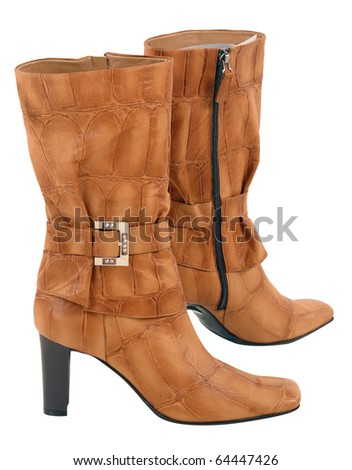 women fashion boots - stock photo