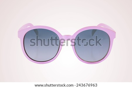 Women glamorous pink sunglasses - stock photo