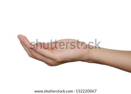 women hand isolated on a white background. - stock photo