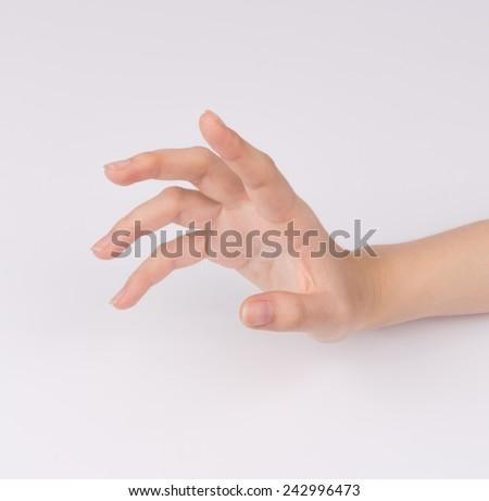 Women hand isolated on white background - stock photo
