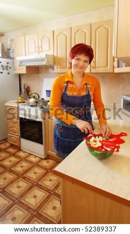 women in kitchen - stock photo