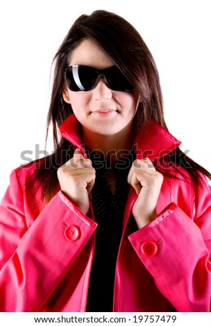 Women in shades - stock photo