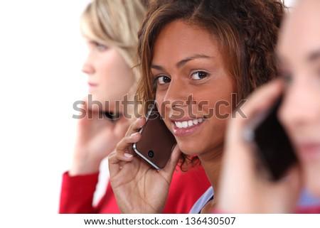 Women on the phone - stock photo