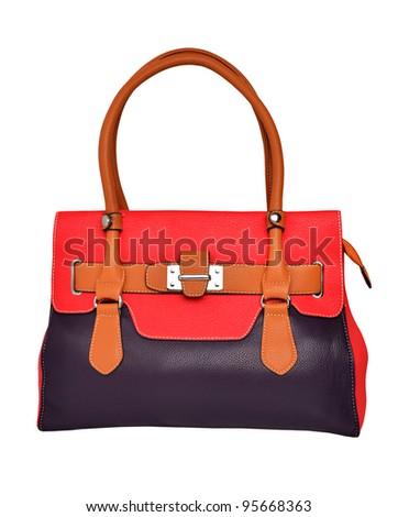 Women's bag isolated on a white background - stock photo