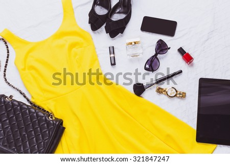 Women's clothes and accessories - stock photo