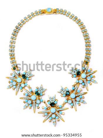 Women's jewelry is isolated - stock photo