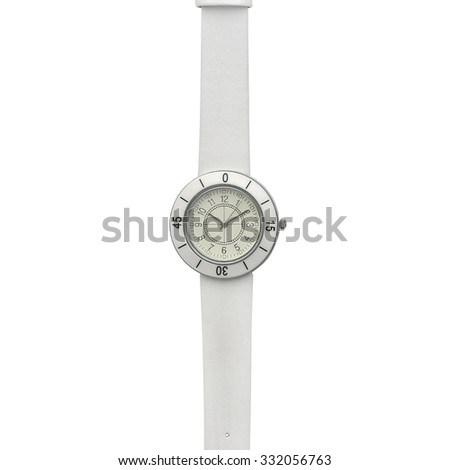 Women's leather watch - stock photo