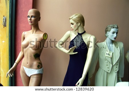 Women`s mannequin. - stock photo
