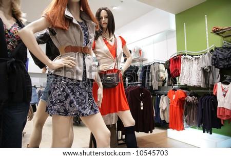 women`s mannequin in store 2 - stock photo