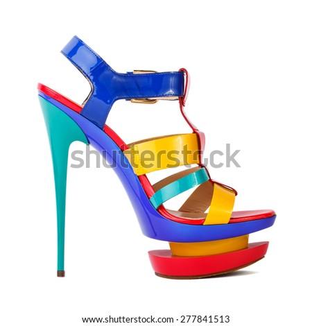 Black Woman Grabbing Shoe In Red Dress Vector