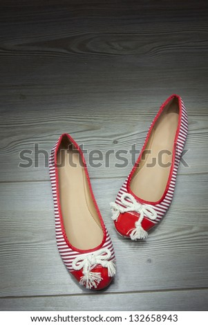 women shoes red - stock photo