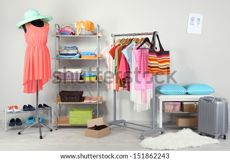 Women wardrobe  - stock photo