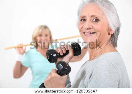 Women working out together - stock photo