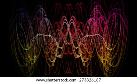 wonderful abstract illustrated glass background design - stock photo