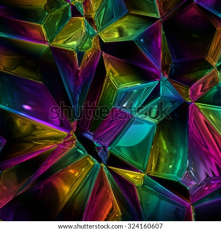 wonderful abstract illustrated glass pattern - stock photo