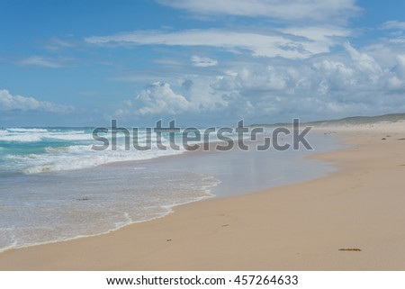 Wonderful beach - beautiful wild nature - stock photo