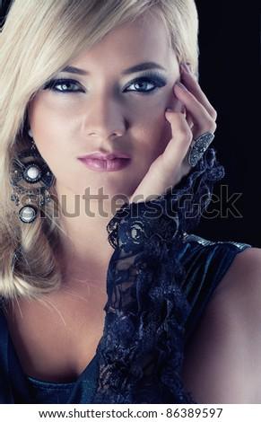 Wonderful blond women - stock photo