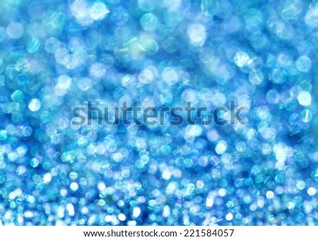 Wonderful bokeh background of blue lights. - stock photo