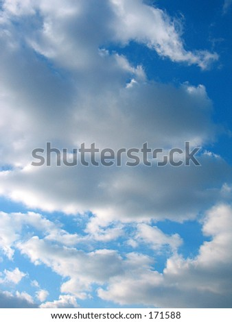 wonderful clouds - stock photo