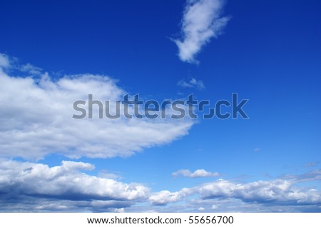 Wonderful clouds against blue sky - stock photo