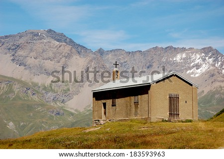 Wonderful natural landscape of Alps, central Europe - stock photo