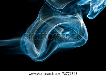 wonderful plume of smoke - stock photo