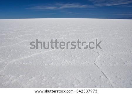 Wonderful Salar de Uyuni, Bolivia. - stock photo