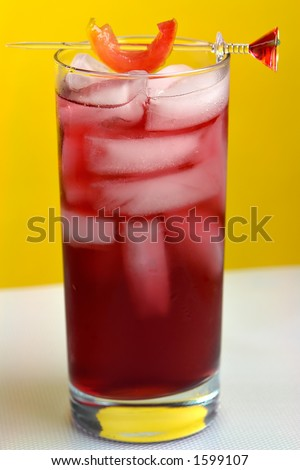 Woo Woo Cocktail in Highball glass - stock photo