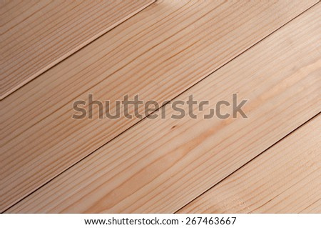 Wood Background Texture, diagonal new boards, planks - stock photo