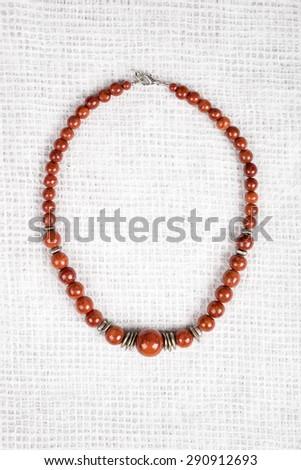 Wood Bead Necklace - stock photo