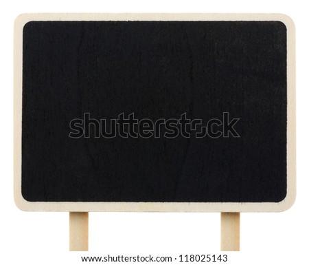 wood blackboard isolated on white - stock photo