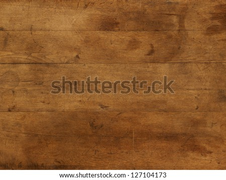 Wood board table brown individual boards - stock photo