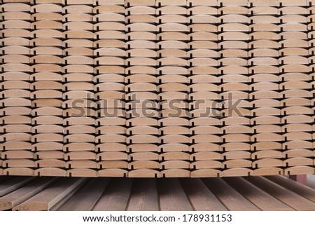 wood business storage warehouse store - stock photo