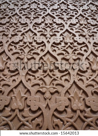 Wood carving - stock photo