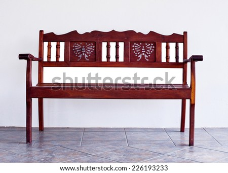 Wood Chair In House - stock photo
