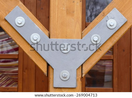 Wood connection - stock photo